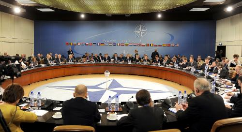 NATO meeting in Brussels, 2010